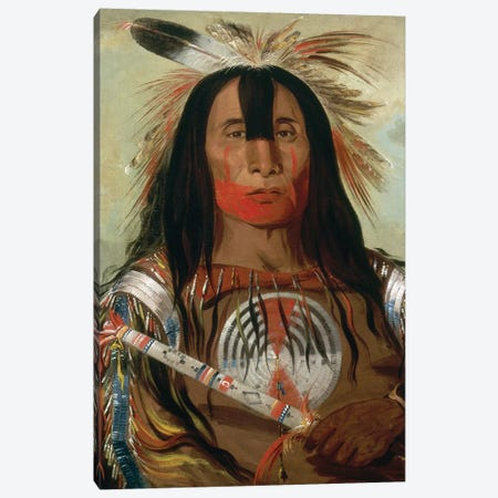 Blood Head Chief, 1832 Canvas Print #GER41} by George Catlin Art Print