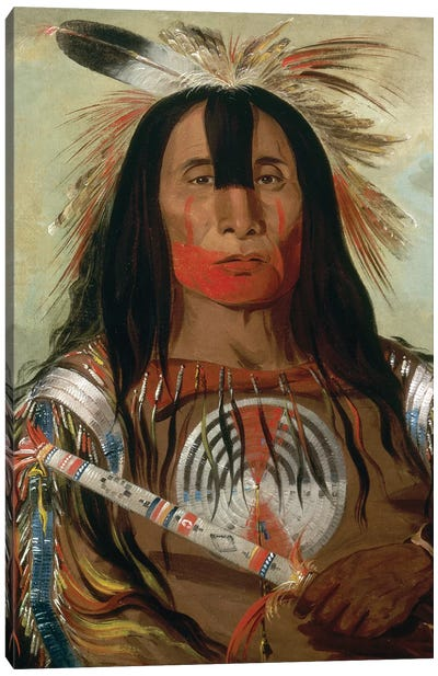 Blood Head Chief, 1832 Canvas Art Print
