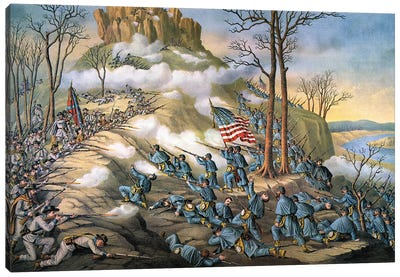 Battle Of Lookout Mount Canvas Art Print
