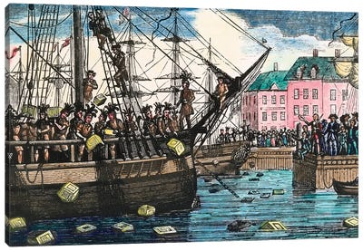 Boston Tea Party, 1773 Canvas Art Print
