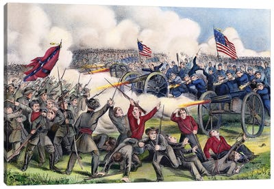 Civil War: Gettysburg, 1863 Canvas Art Print