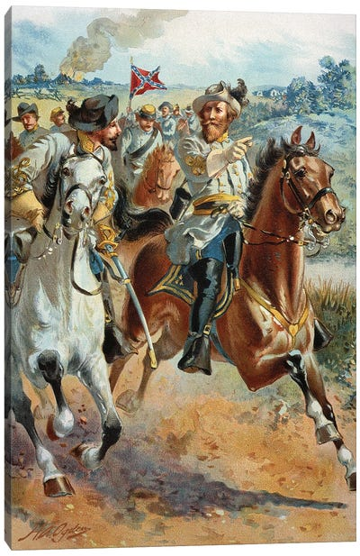 Jeb Stuart's Cavalry, 1862 Canvas Art Print