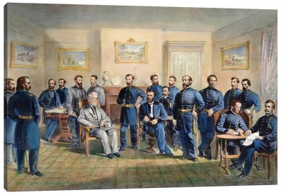 Lee'S Surrender, 1865 Canvas Art Print
