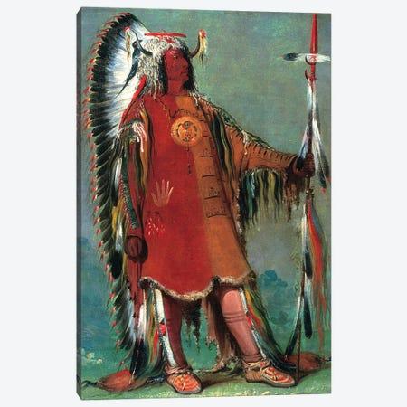 Catlin: Mandan Chief, 1832 Canvas Print #GER43} by George Catlin Canvas Art Print