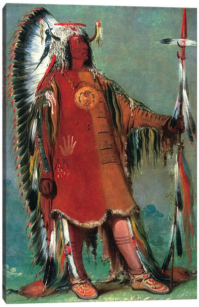 Catlin: Mandan Chief, 1832 Canvas Art Print