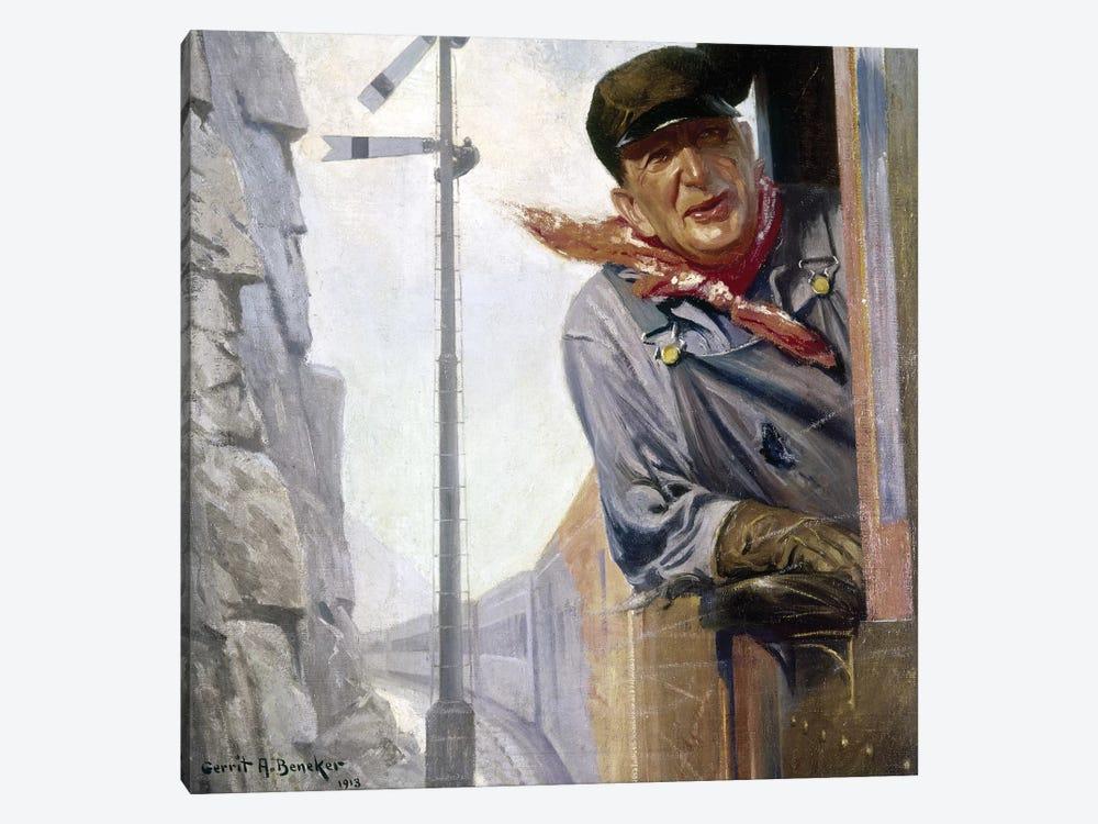 Beneker: The Engineer, 1913 by Gerrit Albertus Beneker 1-piece Canvas Print