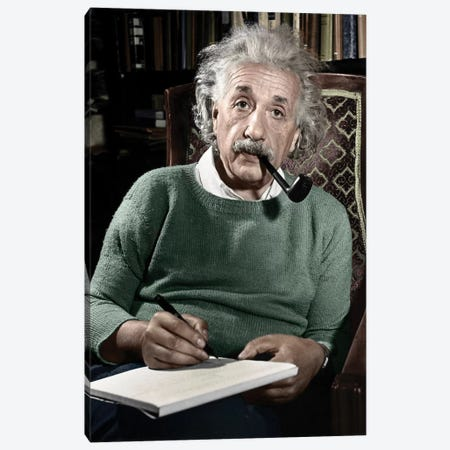 Albert Einstein (1879-1955) Canvas Print #GER49} by Granger Canvas Art Print