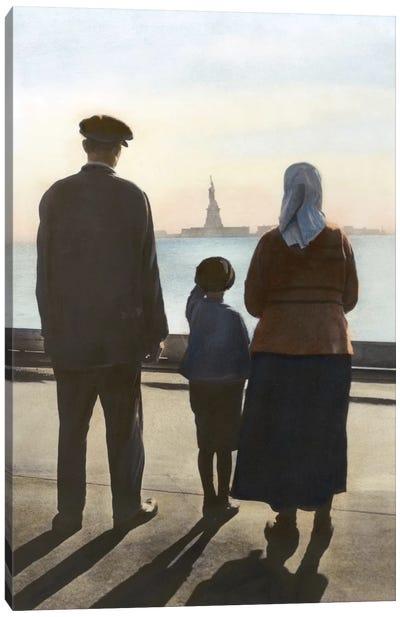 Immigrants: Ellis Island Canvas Art Print