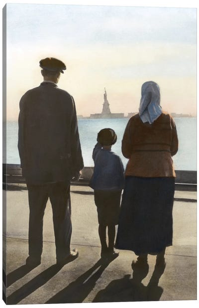 Immigrants: Ellis Island Canvas Art Print