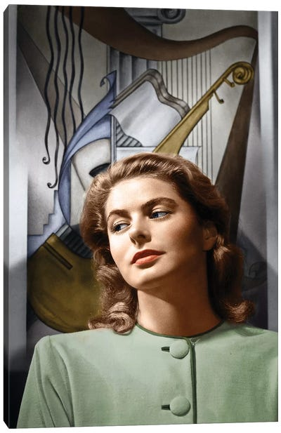 Ingrid Bergman (1915-1982) Canvas Art Print