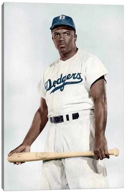Jackie Robinson (1919-1972) Canvas Art Print