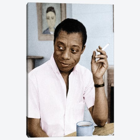 James Baldwin (1924-1987) Canvas Print #GER58} by Granger Canvas Wall Art