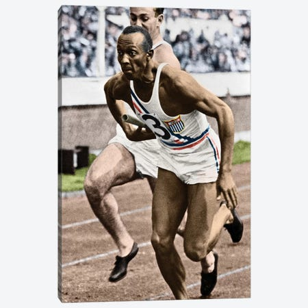 Jesse Owens (1913-1980) Canvas Print #GER59} by Granger Canvas Artwork