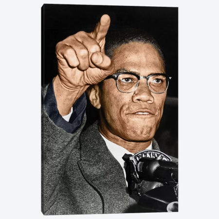 Malcolm X (1925-1965) Canvas Print #GER61} by Granger Canvas Print