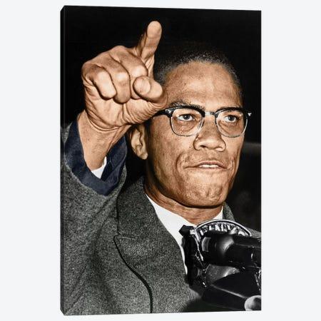Malcolm X (1925-1965) Canvas Print #GER61} by Granger Canvas Print