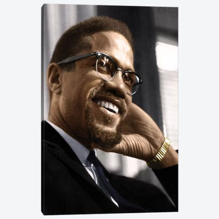 Malcolm X (1925-1965) Canvas Print #GER62} by Granger Canvas Art Print