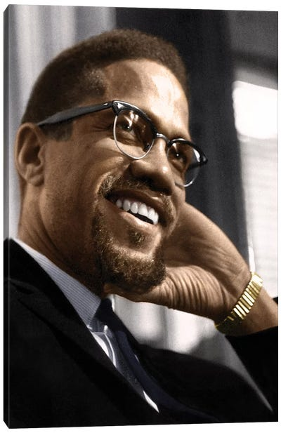 Malcolm X (1925-1965) Canvas Art Print
