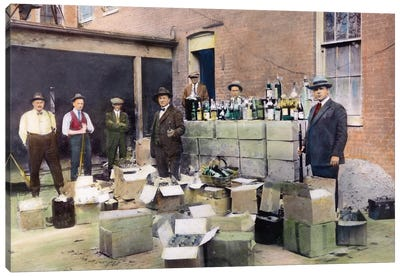 Prohibition, 1922 Canvas Art Print