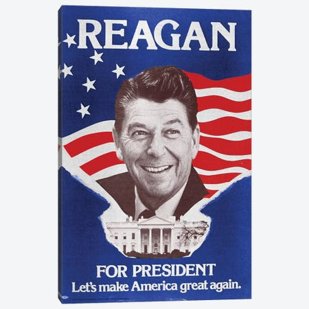 Ronald Reagan (1911-2004) Canvas Print #GER70} by Granger Canvas Art