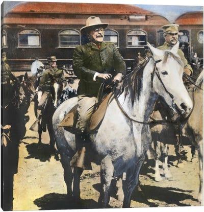 Roosevelt At Yellowstone Canvas Art Print