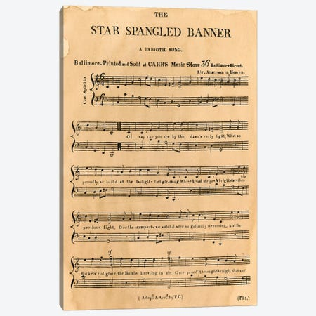 Star Spangled Banner, 1814 Canvas Print #GER72} by Granger Canvas Art