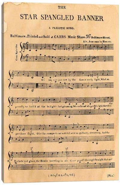 Star Spangled Banner, 1814 Canvas Art Print