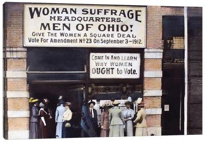 Suffrage Headquarters Canvas Art Print