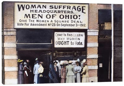 Suffrage Headquarters Canvas Art Print