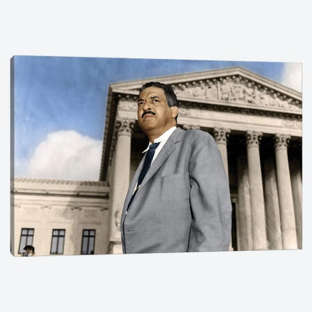 Thurgood Marshall (1908-1993) Canvas Print #GER75} by Granger Canvas Print