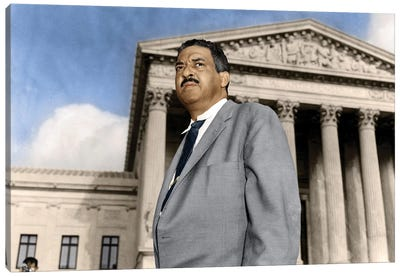 Thurgood Marshall (1908-1993) Canvas Art Print