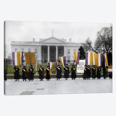 White House: Suffragettes Canvas Print #GER77} by Granger Canvas Print