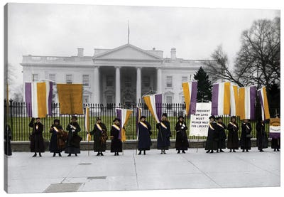 White House: Suffragettes Canvas Art Print