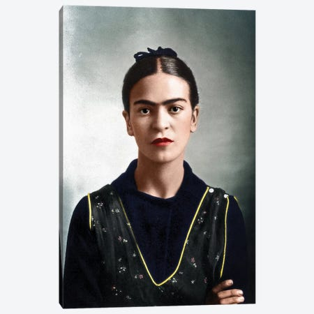 Frida Kahlo (1907-1954) Canvas Print #GER78} by Guillermo Kahlo Canvas Wall Art