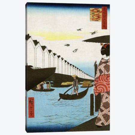 Hiroshige: Waterfront, 1857 Canvas Print #GER7} by Ando Hiroshige Canvas Art Print