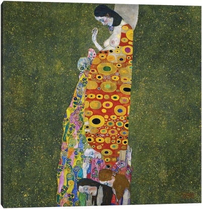 Klimt: Hope, Ii by Gustav Klimt Canvas Art Print