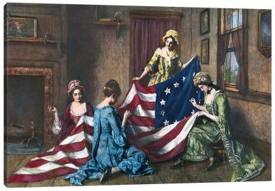 Birth Of The Flag Canvas Art Print