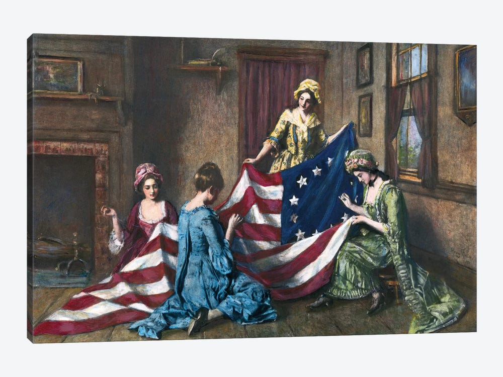 Birth Of The Flag by Henry Mosler 1-piece Canvas Art