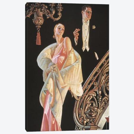 Arrow Shirt Collar Ad Canvas Print #GER85} by J.C. Leyendecker Canvas Wall Art