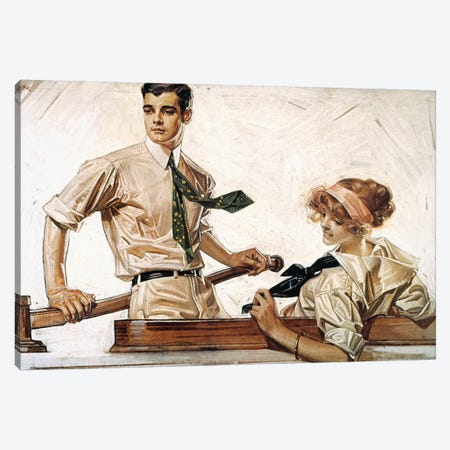 Arrow Shirt Collar Ad Canvas Print #GER86} by J.C. Leyendecker Canvas Wall Art