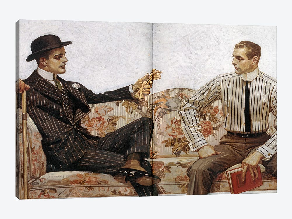 Arrow Shirt Collar Ad, 1912 by J.C. Leyendecker 1-piece Canvas Wall Art