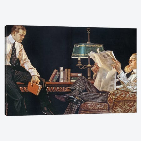 Arrow Shirt Collar Ad, 1914 Canvas Print #GER89} by J.C. Leyendecker Canvas Art Print