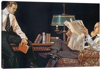 Arrow Shirt Collar Ad, 1914 Canvas Art Print