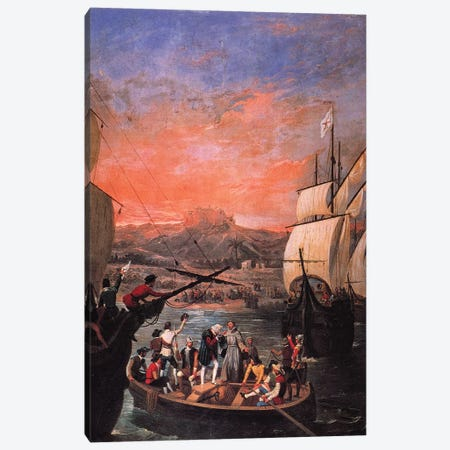 Columbus: Departure, 1492 Canvas Print #GER8} by Antonio Cabral Bejarano Canvas Artwork