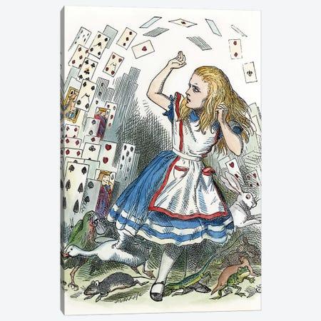 Alice In Wonderland, 1865 Canvas Print #GER93} by John Tenniel Canvas Art
