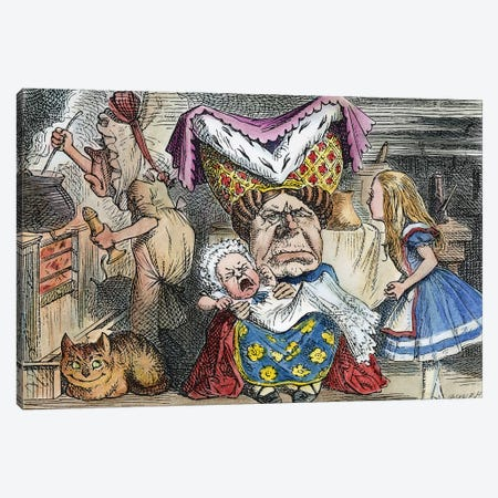 Alice In Wonderland, 1865 Canvas Print #GER94} by John Tenniel Canvas Art Print