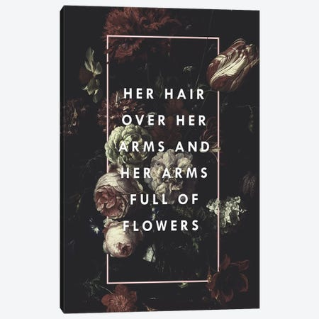 Arms Full Of Flowers Canvas Print #GES101} by Galaxy Eyes Canvas Art Print