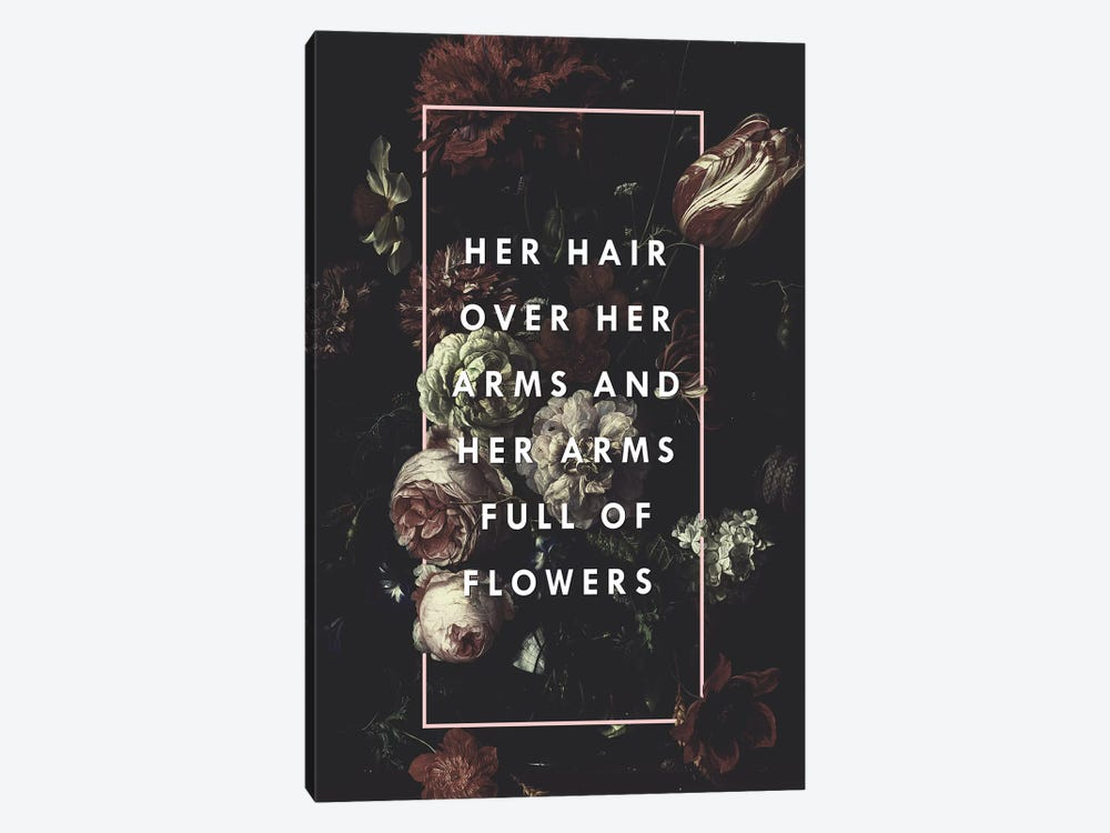 Arms Full Of Flowers by Galaxy Eyes 1-piece Canvas Wall Art