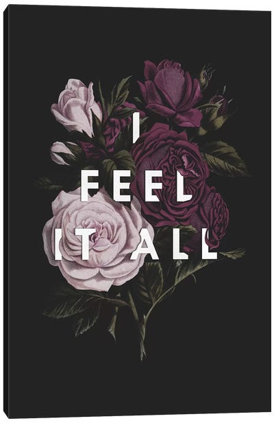 I Feel It All Canvas Art Print