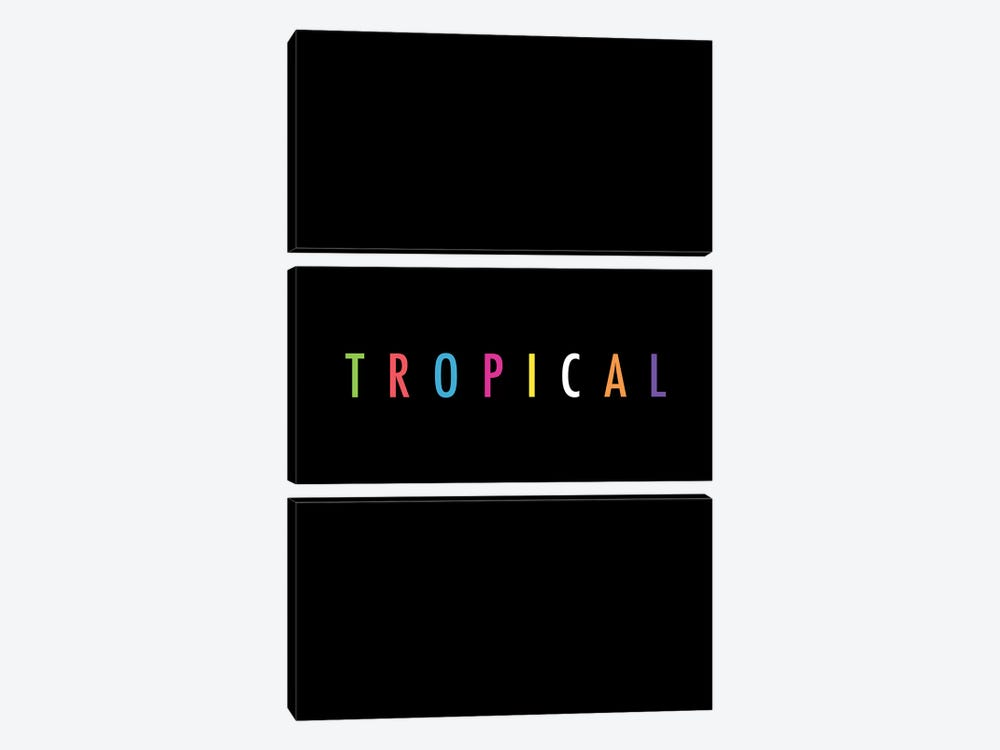 Tropical XVII: Print by Galaxy Eyes 3-piece Canvas Art