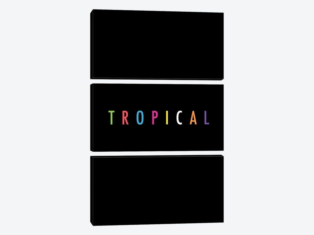 Tropical XVII: Print by Galaxy Eyes 3-piece Canvas Art